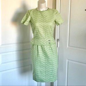BEAUTIFUL VINTAGE 50's MARCY ALLEN PEPLUM DRESS